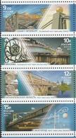Russia 2011 Strip Of 4 Pedestrian Bridges Bridge Geography Places Architecture Arkhangelsk Region Belgorod Stamps MNH - Geography