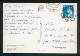 TP Circulada A Alemania El 5 Abr. 1979. Fechador *Correo Aéreo - Tenerife. Santa Cruz Palma* - 1931-Hoy: 2ª República - ... Juan Carlos I