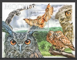 Y357 2011 GUINE GUINEA-BISSAU FAUNA BIRDS OWLS MOCHOS BL MNH - Owls