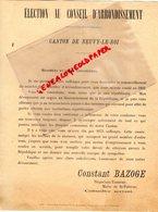 37- NEUVY LE ROI- RARE LETTRE CONSTANT BAZOGE-NEGOCIANT TANNEUR MAIRE DE SAINT PATERNE- MAIRIE-1892 - Documents Historiques