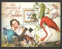 Y359 2011 GUINE GUINEA-BISSAU FAUNA BIRDS 160TH ANNIVERSARY J. J. AUDUBON 1BL MNH - Birds