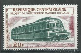 Centrafricaine Rép. Poste Aérienne YT N°12 Projet De Voie Ferrée Bangui-Douala Oblitéré ° - Zentralafrik. Republik