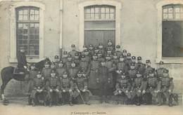 CPA Nancy 3e Compagnie Ire Section Cavalier Régiment Uniforme Caserne Militaria Sabre - Regiments
