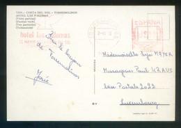 TP Circulada De Torremolinos A Luxemburgo El 2 Ago. 1973. Franqueo Mecánico *Hotel Las Palomas* - 1931-Hoy: 2ª República - ... Juan Carlos I