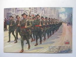 CONTINGENT DE LA NOUVELLE-ZELANDE  ALLANT AU FRONT            TTB - Militaria