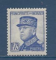 Monaco - YT N° 165 - Neuf Sans Charnière  - 1937 à 1939 - Nuovi