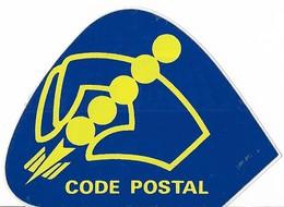 Autocollant - CODE POSTAL - 9,5 X 7 Cm - Stickers