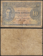 MALAYA - 10 Cents 1941 (1945) P# 8 Asia Banknote - Edelweiss Coins - Malaysie