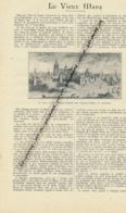 1926: Document, LA SARTHE (2 Pages Illustrées), Le Mans, Grande Poterne,  Maison De Scarron, Le Grabatoire, Bérengère... - Vieux Papiers