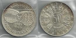 AUSTRIA 1963 - Jahre Tirol - 50 Schilling SPL / FDC - Argento / Argent / Silver - Confezione In Bustina - Austria