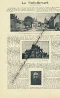 1926: Document, LA SARTHE (2 Pages Illustrées), La Ferté-Bernard, Saint-Calais, Place Saint-Julien, Notre-Dame DesMarais - Vieux Papiers