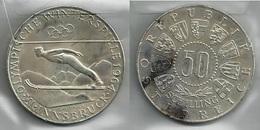 AUSTRIA 1964 - Sci INNSBRUCK - 50 Schilling SPL / FDC - Argento / Argent / Silver - Confezione In Bustina - Austria