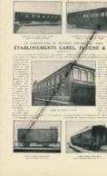 1926: Document, LA SARTHE (2 Pages Illustrées), Le Mans, Ets Carel, Fouché & Cie, Wagon, Automotrice, Tender, Ateliers.. - Vieux Papiers