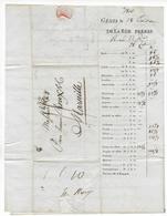 1810 - DEPARTEMENT CONQUIS - LETTRE De IMPRIMEE De GENES Avec MARQUE LINEAIRE => MARSEILLE - 1792-1815: Conquered Departments