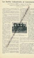 """1926: Document, LA SARTHE (2 Pages Illustrées), Industrie, Commerce, Amédée Bollée, Voiture à Vapeur """"L""""Obéissante""""... - Vieux Papiers"""