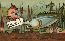 Illustrateur Signé 1er Avrli Poisson Requin  Poisson Factice  Je Me Demande Si Ca Va Prendre ! RV - Other
