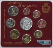 2006 San Marino - DIVISIONALE FDC - N.° 9 Pezzi In Euro - Con 5 € Argento Argent Silver - Delfico - Originale (4 Fo - San Marino