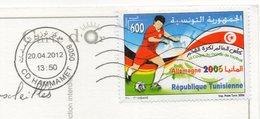Tunisie--tp Coupe Du Monde Football Allemagne 2006--cachet CD HAMMAMET--sur Cpm Hammamet-Multivues - Tunisie (1956-...)