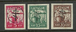 Latvia Russia 1919 Michel 9 - 11 General Bermondt-Awaloff Westarmee Western Army Signed * - Armées De L'Ouest