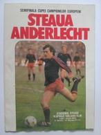 Football Match Program Steaua Bucuresti-SCA Anderlecht Bruxelles-The Semifinals Of The European Champions Cup 1986 - Programmi