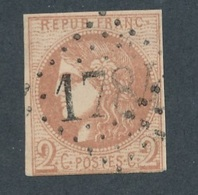 CI-30: FRANCE: Lot  Avec N°40B Obl GC 1784(filet Effleuré En Bas) - 1870 Bordeaux Printing