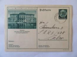 Empire Allemand / Deutches Reich - Entier Postal Postkarte Propagande, Lernt Deutschland Fennen, Bruchsal Circulé 1934 - Entiers Postaux