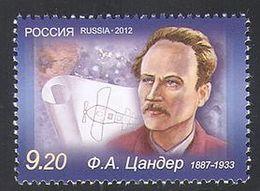 Russia 2012 One 125th Anniv Birth Fridrikh Arturovich Tsander Zander Sciences Scientist People Celebrations Stamp MNH - Astronomy