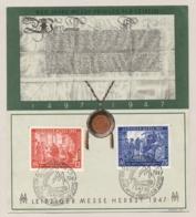 Deutschland - 1947 - Leipziger Messe - Set On Special Card - Amerikaanse, Britse-en Russische Zone