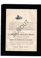 Doodsbrief Julie-Cornélie-Philippine Modaff °1828 Willebroek †1896 Aartselaar Echtg. Anatole Ullens (H12) - Décès