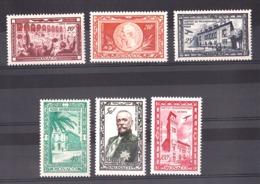 Monaco - 1949 - Poste Aérienne N° 36 à 41 - Neufs * - Centenaire De La Naissance Du Prince Albert 1er - Airmail