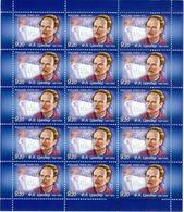 Russia 2012 Sheet 125th Anniv Birth Fridrikh Arturovich Tsander Zander Sciences Scientist People Space Stamps MNH - Astronomy