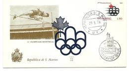 1976 - San Marino 966 Olimpiadi Di Montreal - FDC - Estate 1976: Montreal