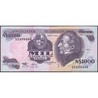 TWN - URUGUAY 64Ab - 1000 1.000 Nuevos Pesos 1992 Serie D UNC - Uruguay