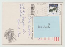 20.12.2001  -  FM/DM Auf Glückwunschkarte, Gel. V.  Esztergom N  4040 Linz - O Gestempelt - Siehe Scans (hu 2007) - Ungarn