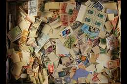 """WORLD - OFF PAPER MIXTURE 1850's - 1950's. An Old Time """"off Paper"""" Unchecked Loose Accumulation In A Small Box, Quickly  - Unclassified"""
