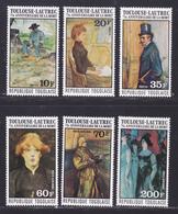 TOGO N°  876 à 878, AERIENS 293 à 295 ** MNH Neufs Sans Trace De Charnière, TB (D7862) Tableaux Toulouse Lautrec - 1976 - Togo (1960-...)