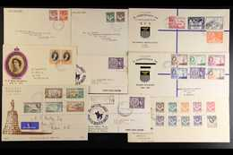 THE RHODESIAS FIRST DAY COVERS - Group Incl. (following All On Illustrated Envelopes) Northern Rhodesia 1949 UPU, 1953 R - Unclassified