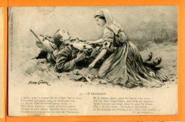 LIP642, Le Brassard, Pierre Comba, Vte De Borrelli, Secours Militaire, Inter Arma Caritas, Circulée 1914 - Croce Rossa
