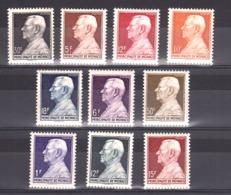 Monaco - 1948 - N° 302 à 306 - Neufs * - Prince Louis II - Unused Stamps