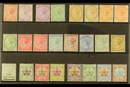 1865-1910 OLD TIME MINT SELECTION Presented On A Stock Card. Includes 1865-1903 CC Wmk P14 1d & 6d, P 14 X12½ 6d & 1s, 1 - Bermudes