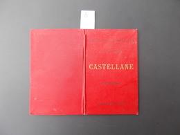 CASTELLANE.CARTE AU CENT MILLIEME.MINISTERE DE L'INTERIEUR.LIBRAIRIE HACHETTE.TIRAGE 1896. - Cartes Géographiques
