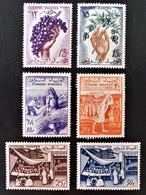 PRODUCTIONS 1956/57 - NEUFS * - YT 428/33 - MI 473/78 - Tunisie (1956-...)