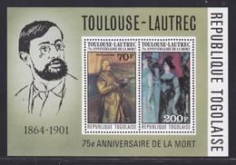 TOGO BLOC N°   97 ** MNH Neuf Sans Charnière, TB (CLR375) Tableaux Toulouse Lautrec - 1976 - Togo (1960-...)