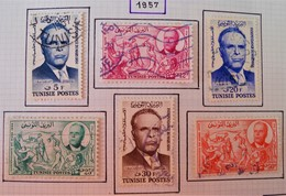 ANNIVERSAIRE DE L'INDEPENDANCE 1967 - OBLITERES - YT 434/39 - MI 479/84 - Tunisie (1956-...)