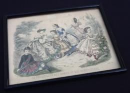 Gravure Polychrome Le Conseiller Des Dames Et Des Demoiselles (Juillet 1864) Anaïs Toudouze - Prints & Engravings