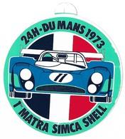 Autocollant - Courses Automobiles - 24 H Du Mans 1973 - 1er MATRA SIMCA SHELL - Diamètre : 10,5 Cm - - Stickers