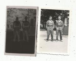 Photographie Et Son Négatif , 6.5 X 5 , Militaria ,militaires - Places