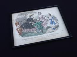 Gravure Polychrome Le Conseiller Des Dames Et Des Demoiselles (Juin 1860) Anaïs Toudouze - Prints & Engravings