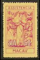 1945-47 50a Lilac And Buff, Charity Tax, Perf 11½, Hong Kong Printing, SG C414, Very Fine Never Hinged Mint, Without Gum - Macao