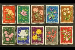 1953 Indigenous Flower Set, SG 458/67, Never Hinged Mint (10 Stamps) For More Images, Please Visit Http://www.sandafayre - Macao